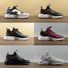 cheap huaraches shoes 2019 - 2019 Cheap Air Huarache 1 IV 4 Ultra Classical White Black red grey Huaraches Shoes Men Women Running Shoes sports desig
