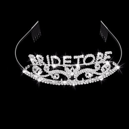 Glitter Party Decorations Australia - Glitter Bride To Be Set Bachelorette Party Decoration Gift Wedding Bridal Shower Hen Party Supplies Metal Rhinestone Tiara Crown