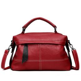 Genuine Leather Handbag Cowhide Shoulder Bag Australia - Women Messenger Bags Cowhide Shoulder Hobos Bag Women's Genuine Leather Handbags Big Size Luxury Handbags Women Tote Bags