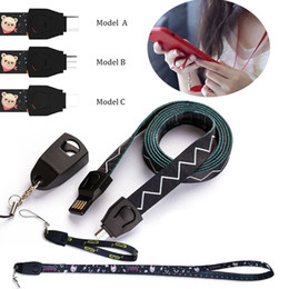 New iphoNe types online shopping - New sling wrist strap design usb data cable cm cm nylon usb sync type C micro usb fast charging cable charge cord for iphone s8 s9
