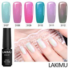 Discount gel lak - Lakimu Sea Shell Nude Color Nail Gel Lacquer Gelpolish Pearl Need Top Base Coat Nail Art Acryl UV Gel Lak Hybrid Varnish