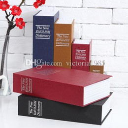 Book Money NZ - 18*11.5*5.5cm Safe Box Popular Secret Book creative English dictionary Money storage box with lock Safe Deposit Box great gift idea