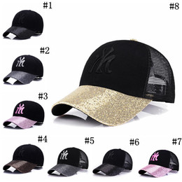 084bbd77a78 BaseBall cap stitching online shopping - Sequins Embroidery Adjustable  Snapback Colors Outdoor Letter Printed Baseball Caps