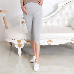43a7b3c410db4 Maternity Bottom Pants Summer Thin Maternity Knee Length Trousers Plus Size Pregnant  Women Clothing Summer Capris