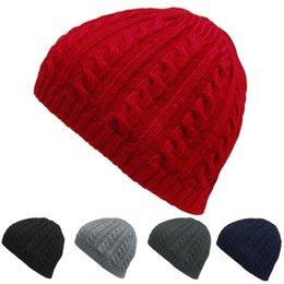 afe67c963777 Winter Warm Knitted Hats Women Men Loose Skiing Skating Outdoors Beanie Hats  Gorros Cap Ski Sport Slouchy Winter for Womem