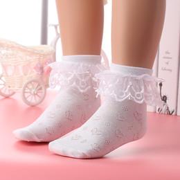 Discount toddler ruffled socks - Spring Summer Baby Girls Kids Toddler Cotton Lace Ruffle Princess Mesh Socks Children Breathable Short Ankle Sock Suit 2
