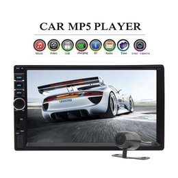 radio cards Australia - Bluetooth 7'' 2 Din Car Stereo In-Dash HeadUnit Car Video MP5 MP3 Player Radio Car Audio Receiver Aux Input TF card FM+Backup Camera