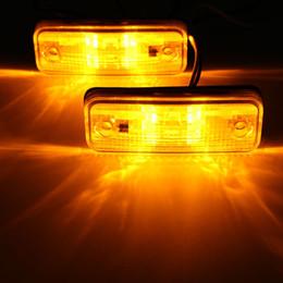 trailer lights 2018 - 2pcs 4 LED Side Marker Light Indicator Lamp Bus Truck Trailer Lorry Caravan 10~30V E8 discount trailer lights