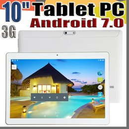 "mtk octa core tablet NZ - 168 10 Inch 10 "" Tablet PC MTK6580 Octa Core Android 7.0 4GB RAM 64GB ROM Phable tablet IPS Screen GPS 3G phone tablets E-9PB"