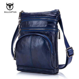 aa439151a6fb Bullcaptain Original Real Cowhide Leather Men Bag For Man 2017 New vintage  Style Men s Mini Cross Body Shoulder Bags