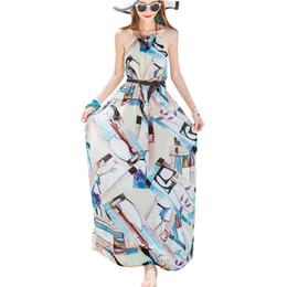 Опт Санья пляж юбка женская летняя новая мода шифон слинг приморский курорт Бали был тонкий пляж богемный платье