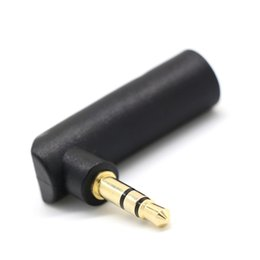Discount 3.5mm jack adaptor Rliable Dropping shipping Right Angled 3.5mm Stereo Jack Headphone Adaptor Socket to Plug Angle