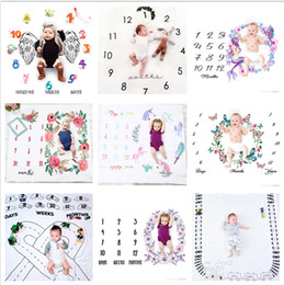 29 types newborn baby milestone blanket photography background props toddler photo backdrops infant letter flower blankets BHBZ12 on Sale