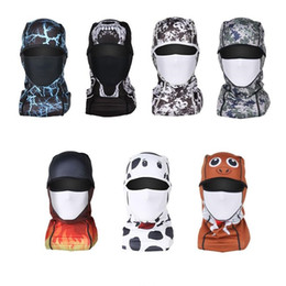 printed dust masks Canada - Bicycle Cycling Masks Motorcycle Barakra Hat Cycling Caps Outdoor Sport Ski Mask CS windproof dust head sets printing Tactical Mask 500Pcs