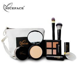 Wholesale Best Deal New Fashion Christmas Makeup Kits Gift Set Brush Concealer Stick Loose Powder Lipstick Kit