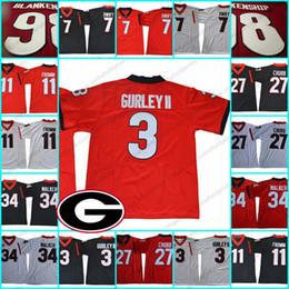 herschel walker jerseys 2019 - Georgia Bulldogs  3 Todd Gurley II 34  Herschel Walker 7 f2592525d