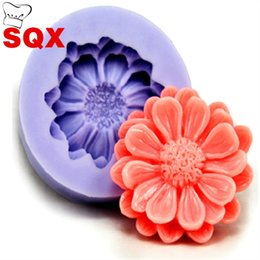 Chinese  Round Silicone Moulds Safe Chrysanthemum Shape Cake Decoration Baking Tools Soft Anti Wear Silica Gel Mold Fashion 3sq B manufacturers