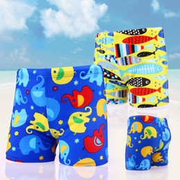 Wholesale 2018 Summer Boys Swim Shorts Baby Boys Swimming Shorts Cartoon Printed Swim Trunks Board Shorts for 1-14T Teenager Fashion Swimsuits