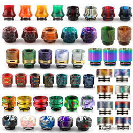 Discount rainbow vape tank - 13 Types 810 Thread Resin Drip Tip Honeycomb Snake Skin Cobra Vape Rainbow Mouthpiece for TFV12 Prince TFV8 Big Baby Tan