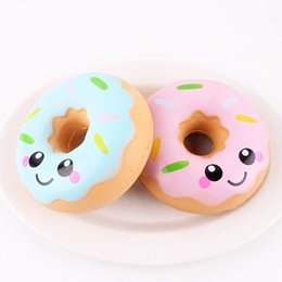 Wholesale Squishies toy cm Lovely Doughnut Cream Scented Squishy Slow Rising Squeeze anti stress soft toys funny gadgets kawaii squishies oyuncak