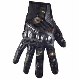 $enCountryForm.capitalKeyWord NZ - Carbon Fiber Motocross Gloves Summer Leather MX Motorcycle Gloves Protective Gear Moto GP Gant Moto Homme Army Green XXL