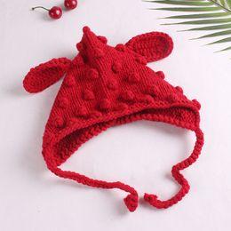 $enCountryForm.capitalKeyWord Australia - Baby Winter Warm Ear Knitted Hat new Children's Handmade Knitted Wool Hat Gift Cute