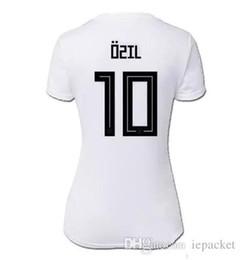 6b222882111 Ozil Jersey Thai Quality UK - Women Deutschland Soccer Jersey OZIL KROOS  WERNER MULLER Football Shirt
