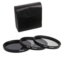 Vente en gros 3 en 1 gris ND2 ND4 ND8 Kit de filtres pour lentilles 49mm 52mm 55mm 58mm 62mm 67mm 72mm 77mm pour appareil photo Canon Nikon