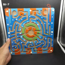 Toy Magnetic Squares NZ - Toys For Children Big Square Maze Wooden Puzzle Labyrinth Magnetic Ball Brian Mind Toys Intelligence Game