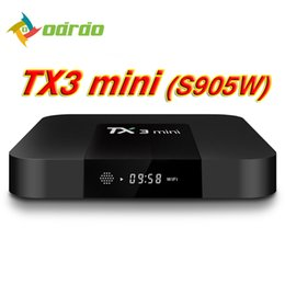 Arabic Iptv Android Tv Box Canada - Factory TX3 MINI TV BOX Quad Core Amlogic S905W Android 7.1.2 Arabic IPTV Media Player 2GB 16GB Pulse Build Better S8 PRO X96 MINI