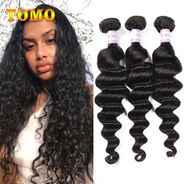 malaysian human hair 16 inch NZ - TOMO Malaysian Loose Wave 100% Human Hair Bundles 16 -26 Inches Virgin Human Hair Extensions Natural Color Big Wave Hair Weave 3 Bundles