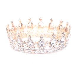 China Europe and the United States popular round crown wedding headdress wedding accessories bridal jewelry supplier white lace hair accessories suppliers