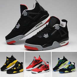 best website 4a40d e8e81 nike air Jordan 4 aj4 retro 4 Eminem Encore Pure Geld White Zement Royalty  Gezüchtet Toro Bravo Donnergrün Glow Schuhe 4 s Mens Basketball Turnschuhe