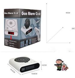 $enCountryForm.capitalKeyWord NZ - Novelty Gun Alarm Clock LCD Laser Gun Shooting Target Wake UP Alarm Desk Clock Gadget Fun Toy Gun Alarm Clock