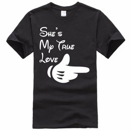 $enCountryForm.capitalKeyWord NZ - 2018 Special Offer Direct Selling Fashion Cotton T Shirt For Clothing Summer O-neck Short Shes My True Love Design Mens Shirts