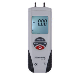 Discount pressure gauge manometer LCD Digital Manometer Differential Air Pressure Gauge Manometro 2Psi 13.79Kpa Tester Tools 11 Selectable Scales & Units