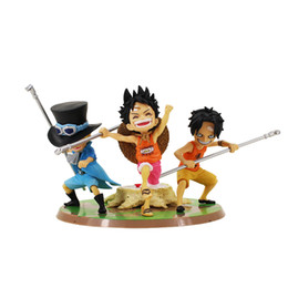 $enCountryForm.capitalKeyWord UK - 11cm 3pcs lot One piece Ace Sabo Luffy ASL Three Brothers Childhood Decoration Toy PVC Action Figure Collectible Model Toy Doll