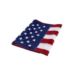 embroidered american flags UK - Nylon US Double Sided Printed American Flag Sturdy Embroidered Stars Sewn Stripes Home Decora