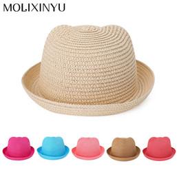 MOLIXINYU Bambini Ragazzi   Ragazze Cute Beach Cap Paglia Moda cappelli da  sole per bambini all ingrosso Ordine di colore della miscela 20 pezzi    lotto 9498016c3030