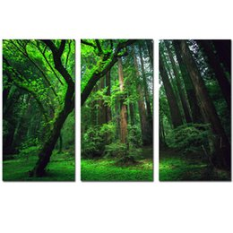 $enCountryForm.capitalKeyWord Australia - 3 Panels Green Forest HD Canvas Print Painting Artwork Modern Home Wall Decor Painting Canvas Art HD Picture On Canvas Prints Y18102209