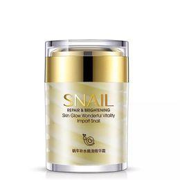 Snail care whitening online shopping - DHL free BIOAQUA Natural Snail Essence Facial Cream Moisturizer Hydrating Whitening Skin Anti Aging Oil Control Shrink Pores Skin Care