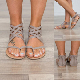 $enCountryForm.capitalKeyWord Canada - Plus Size 34-43 Flats Summer Women's Sandals 2017 New Fashion Casual Shoes For Woman European Rome Style Sandalias