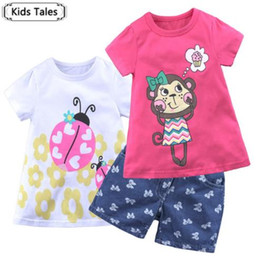Wholesale ST363 Hot Sale Summer Children s set Cotton Suit Cartoon Children s Clothing Set Girls Boys Set of Clothes for Y Babies