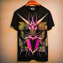 $enCountryForm.capitalKeyWord Australia - Bird of paradise print summer man t shirt men tshirt hip hop streetwear polo short sleeve t-shirt men t shirts camiseta shirt homme black