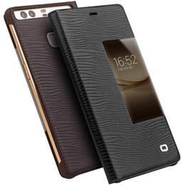 Venta al por mayor de B11 Funda de cuero clásica para Huawei P9, cubierta de negocios artesanal de buena calidad para Huawei P9