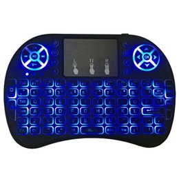 Discount wireless keyboards colors - 3 Colors Backlight Mini i8 2.4GHz Wireless Keyboard Air Mouse Touchpad i8 Backlit Remote Controlers For Android TV BOX W