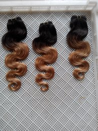 Discount ombre long weave - Similler 10-30 Inchs Long Synthetic Body Wave Hair Extensions Ombre Two Tones Double Weft 100% Human Hair Weave