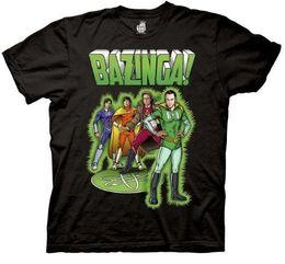 $enCountryForm.capitalKeyWord NZ - The Big Bang Theory Bazinga Comic Book Characters Adult Black T-shirt Printed Summer Style Tees Male Harajuku Top Fitness Brand Clothing