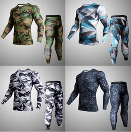 $enCountryForm.capitalKeyWord NZ - 2018 19 New Camouflage Running Sets Men Sport Suit Compression Tight Underwear Fitness Gym Jogging Football Training Sport Suit