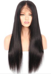 Korean fashion wigs online shopping - Hot Fashion Synthetic Hair Wig long Straight Lace Front Wig handmade Synthetic Wigs For Africa American Women Korean Heat Resistant Fiber